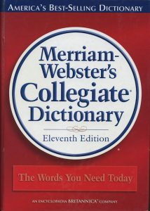 Cover of Merriam-Webster's Dictionary